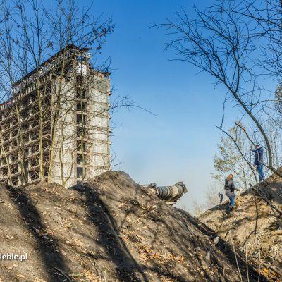 Pierwsza faza wyburzania - 4 listopada 2016. Fot. Rafał Opalski