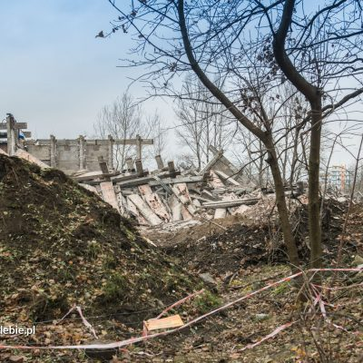 Druga faza wyburzenia - 16 listopada 2016. Fot. Paweł Matyjaszczyk